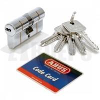 Дверной цилиндр ABUS с плоским ключом (антивыбивание) D6PS 55/55 никель