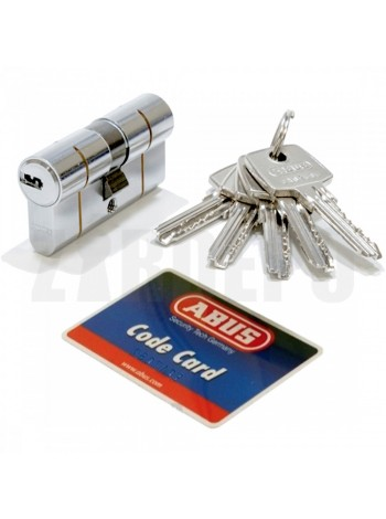 Дверной цилиндр ABUS с плоским ключом (антивыбивание) D6PS 40/40 никель