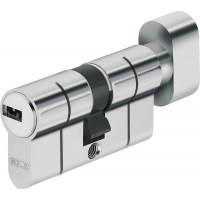 Дверной цилиндр ABUS с плоским ключом (антивыбивание) D6PS 50/50B никель