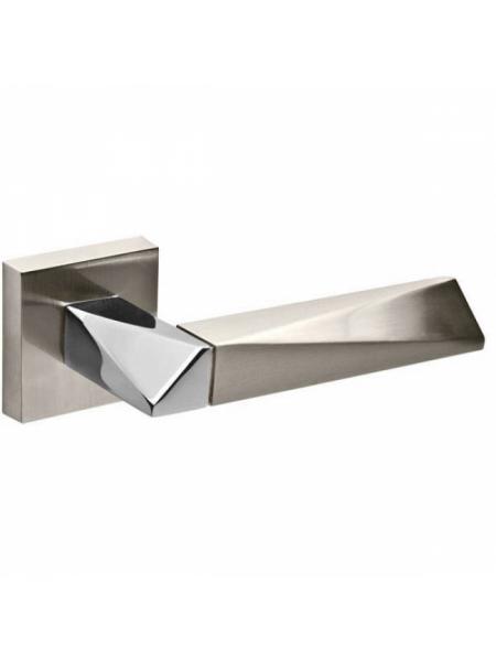 Дверные ручки FUARO DIAMOND DM SN/CP-3-матовый никель/хром