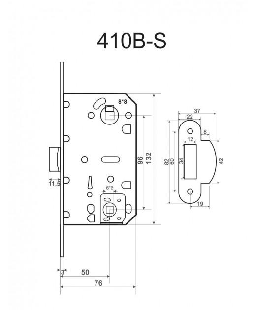 Замок межкомнатный HISAR SD 410B (PL) WC SN (никель)
