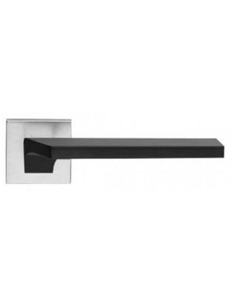 Ручка дверная Linea Cali Giro черный матовый/хром полированный