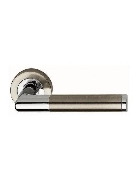 Ручка дверная Linea Cali Karina никель матовый\хром