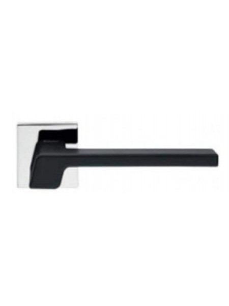 Ручка дверная Linea Cali Stream черный матовый/хром полированный