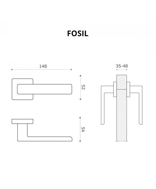 Дверные ручки System FOSIL BBN Черный Мат. Никель