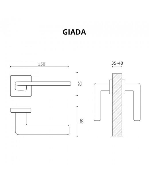 Дверные ручки System GIADA AL315 белый матовый