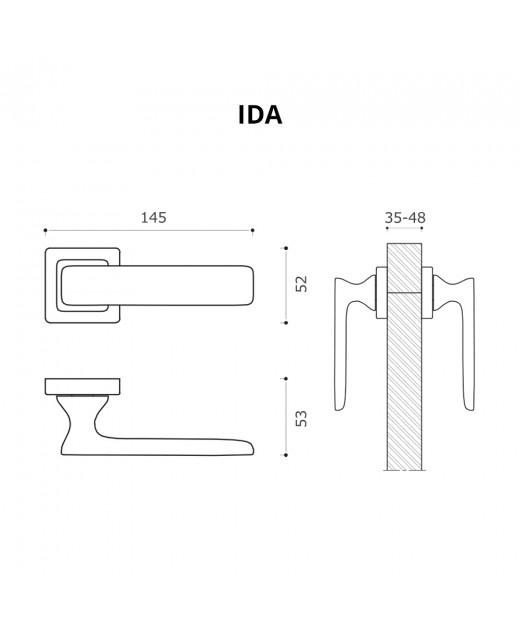 Дверные ручки System IDA BBN Черный Матовый Никель