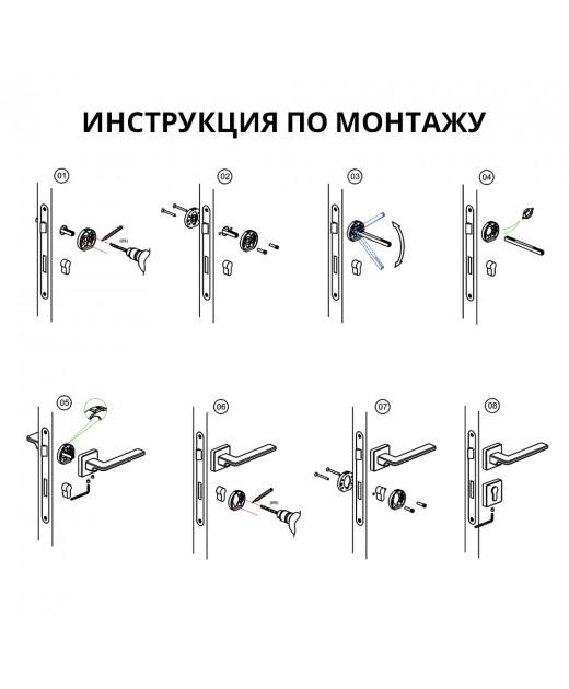 Дверные ручки System GAMMA AL6 Матовый черный