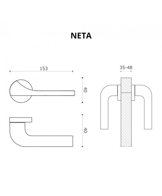 Дверные ручки System NETA CBM Матовый Хром