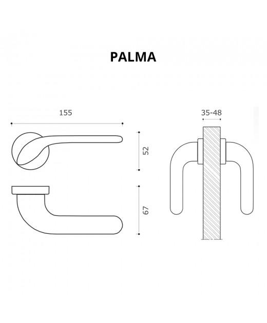 Дверные ручки System PALMA CBM Матовый Хром