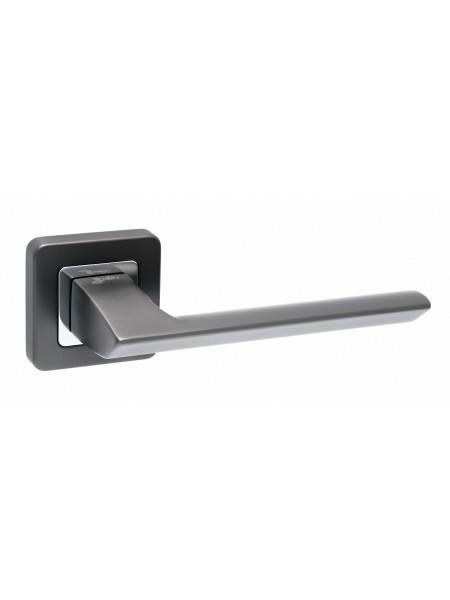 Дверная ручка Safita RAZOR MSB/CP матовый графит/хром