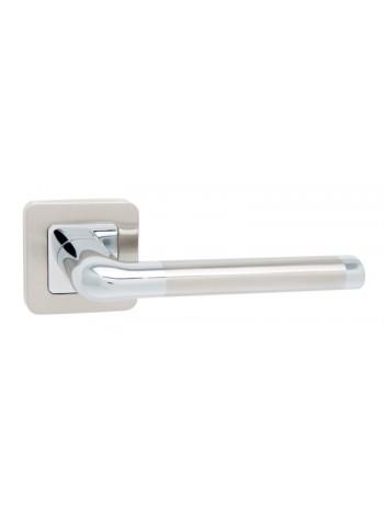 Дверная ручка Safita SPACE SN/CP матовый никель/хром