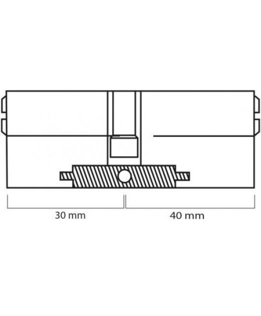 Дверной цилиндр ШерЛок HK 70 (30*40) SN