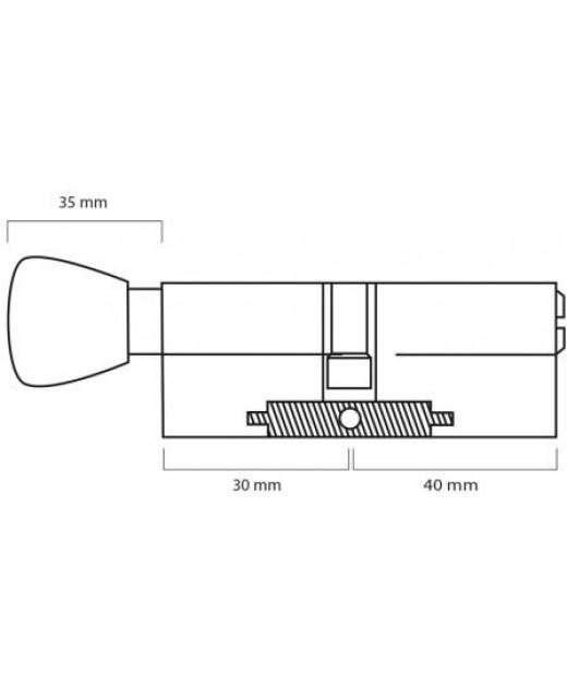 Дверной цилиндр ШерЛок HK 70 (30*40)T SN