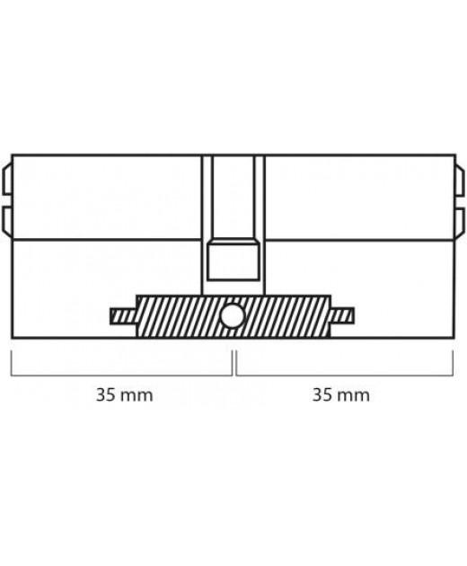 Дверной цилиндр ШерЛок HK 70 (35*35) SN