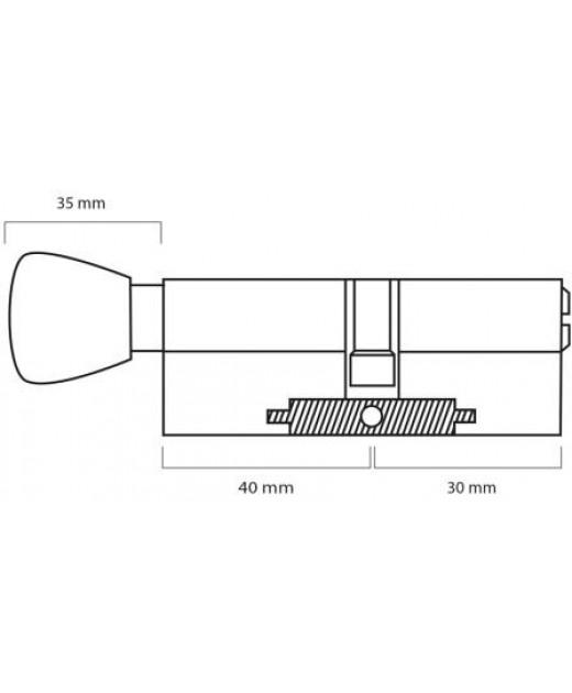 Дверной цилиндр ШерЛок HK 70 (40*30)T SN