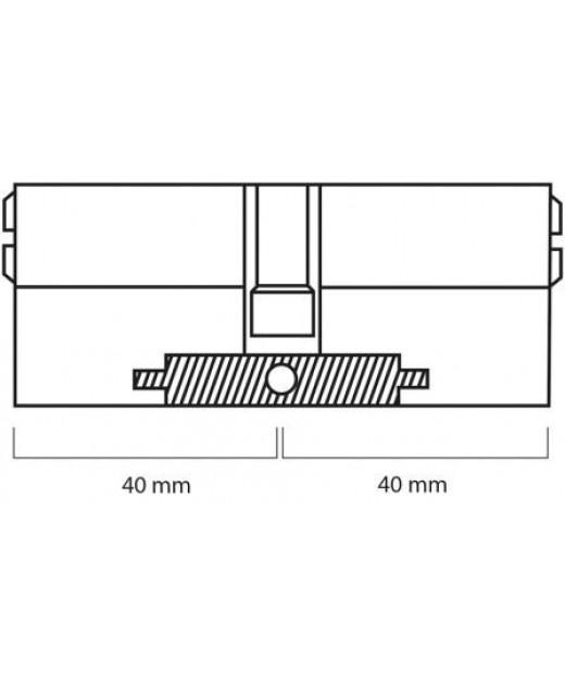 Дверной цилиндр ШерЛок HK 80 (40*40) SN