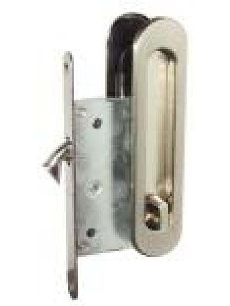 Ручки для раздвижных дверей USK с замком I-05 BN никель